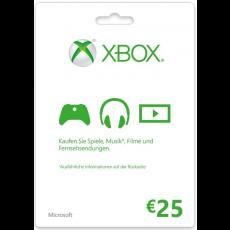 25€ Xbox Geschenkkarte