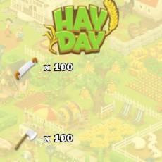 HayDay Baum/Buschfäller Paket 100x Säge und 100x Axt