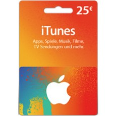 25 Euro iTunes Geschenkkarte