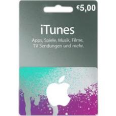 5 Euro iTunes Geschenkkarte