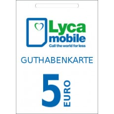 5€ Lyca Mobile Guthabencode