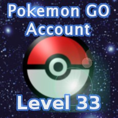 Pokemon GO Account Level 33