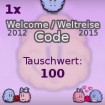 Abo Welcome 2012 Smileycode ODER Weltreise Code 2015