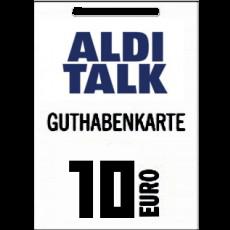 10€ Aldi-Talk Guthabencode