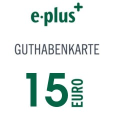 15€ E-Plus Guthabencode