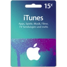 15 Euro iTunes Geschenkkarte