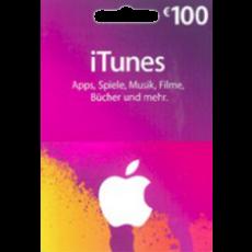 100 Euro iTunes Geschenkkarte