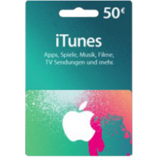 50 Euro iTunes Geschenkkarte
