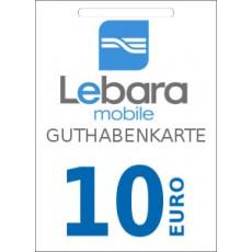 10€ Lebara Mobile Guthabencode