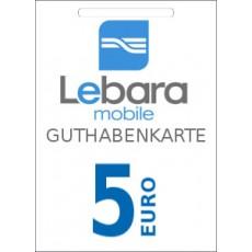 5€ Lebara Mobile Guthabencode