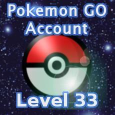Pokemon GO Account Level 33