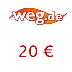 20€ weg.de Gutschein