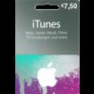 7,50 Euro iTunes Geschenkkarte